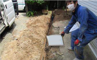 水道メーター 一部給水配管を引き直し漏水工事 水回りのトラブル
