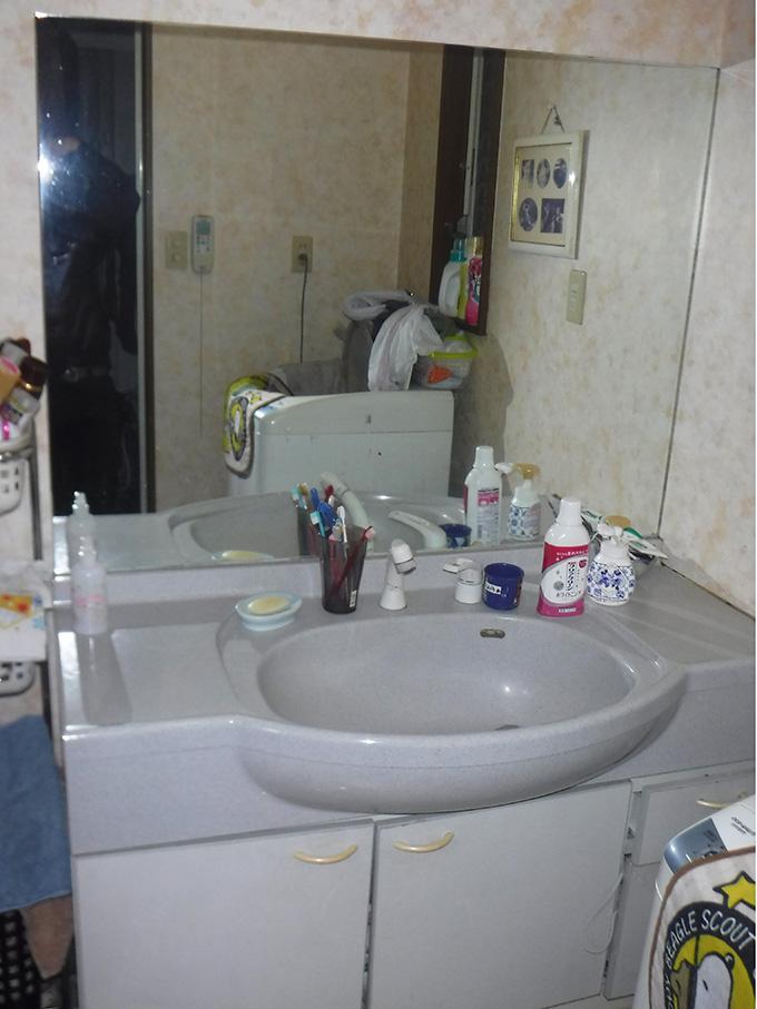 リフォーム施工実績 浴室改修で家事も楽々 洗面所 ビフォー