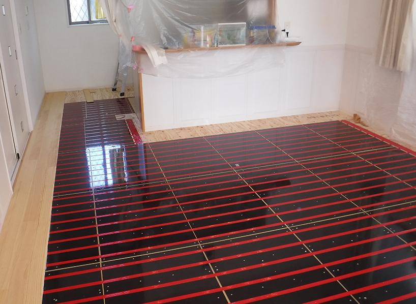 床暖房リフォーム事例 施工中