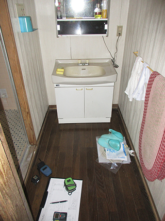 リフォーム施工実績 洗面所 エクステリアリフォーム ビフォー